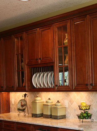 Kitchen Cabinet With Plate Racks